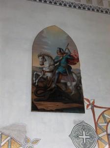 Sv. Jurij v istoimenski kapeli na Ljubljanskem gradu.