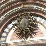 Delček nad glavnimi vhodnimi vrati, Duomo v Sieni.