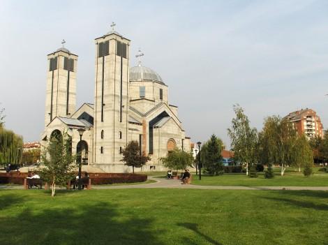 Novejša pravoslavna cerkev v Nišu.
