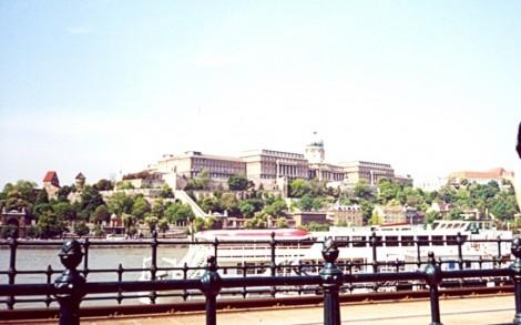 Pogled na Budim in grajsko palačo.