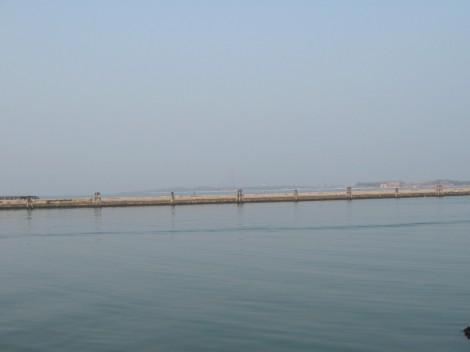Pogled na otok Pallestrina, ki se razteza do Lida, ta pa do Benetk.