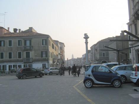 Vhod v Chioggio z morske strani.
