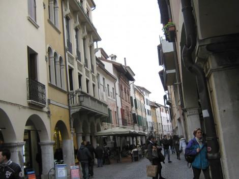 Pordenone, staro mestno jedro, ulica Vitorio Emanuelle
