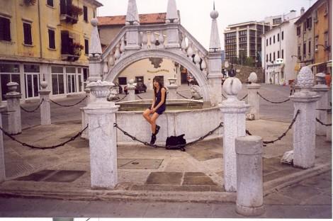 Vodnjak iz leta 1666 na Prešernovem trgu v Kopru.