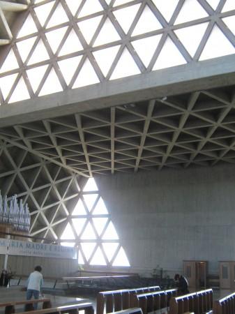 notranjost, beton in steklo