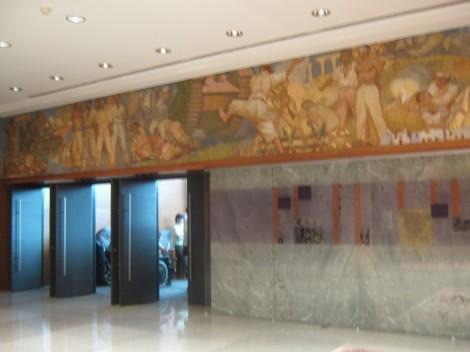 freska v preddverju velike dvorane