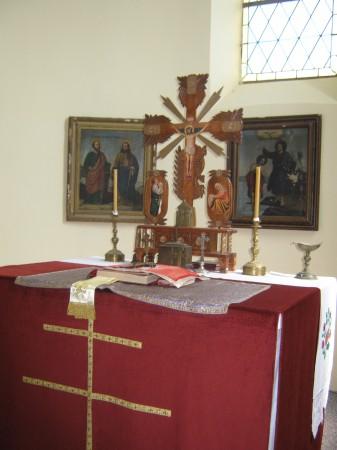 Glavni oltar, ki se nahaja za ikonostasom.