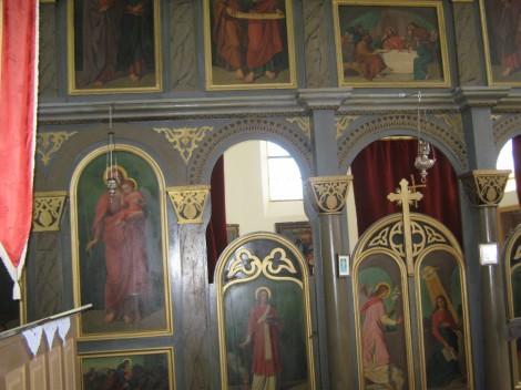 Ikonostas v pravoslavni cerkvi.