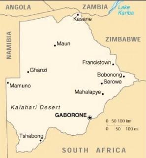 """Gaborone, glavno mesto Bocvane, kamor je postavljeno dogajanje serije detektivskih romanov """"Prva damska detektivska agencija."""