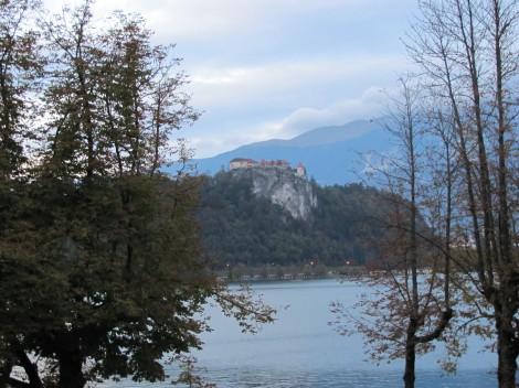 Blejsko jezero in grad v ozadju.