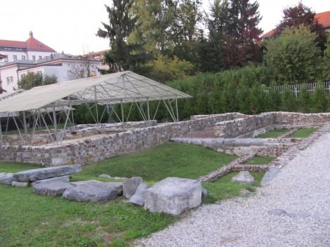 Emonska hiša v kateri je živela bogata rimska družina.