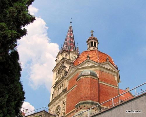 Bazilika v Mariji Bistrici je takšno podobo dobila leta 1883