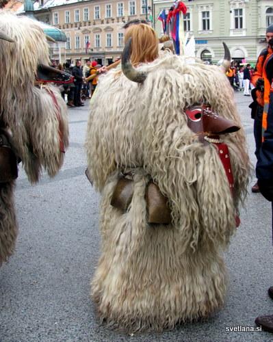 Oprema kurenta je lahko težka tudi do 40 kilogramov. Kljub temu se  z kosa čedalje več deklet.