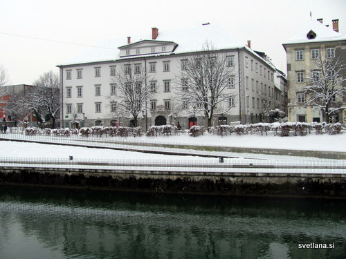 Zoisova palača na Bregu. Zgrajena je iz treh sosednjih hiš, postavil pa jo je oče slovenskega razsvetljenca Žige Zoisa.