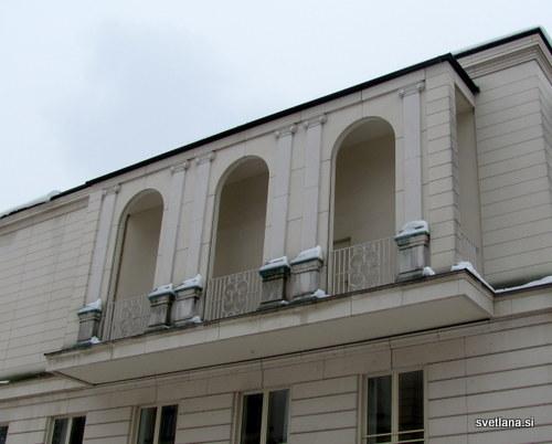 Balkon, detajl Narodne galerije
