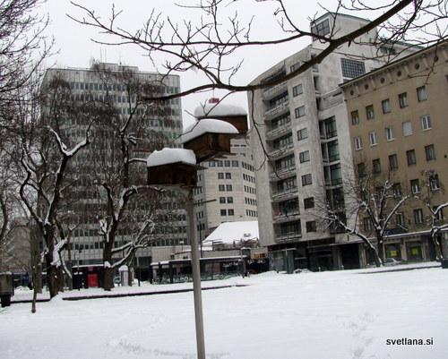 Ptičja hišica, park slovenske reformacije v Ljubljani