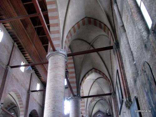 Treviso, cerkev sv. Nikolaja je zgrajena v gotskem slogu