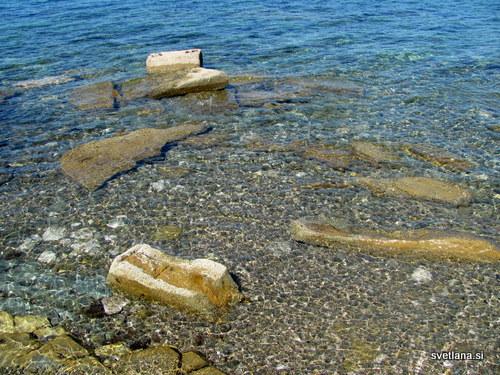 Morje v Izoli je čisto.