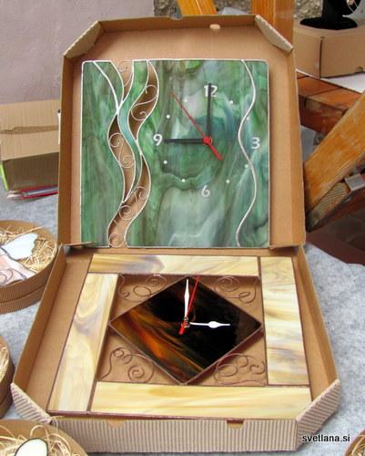 Steklena ura, vitraž v tiffany tehniki
