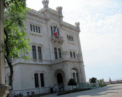 Glavni vhod v grad Miramare