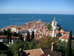Piran, razgled iz mestnega obzidja